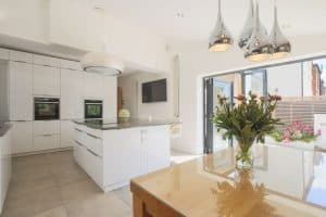 interior property photography of residential kitchen in london